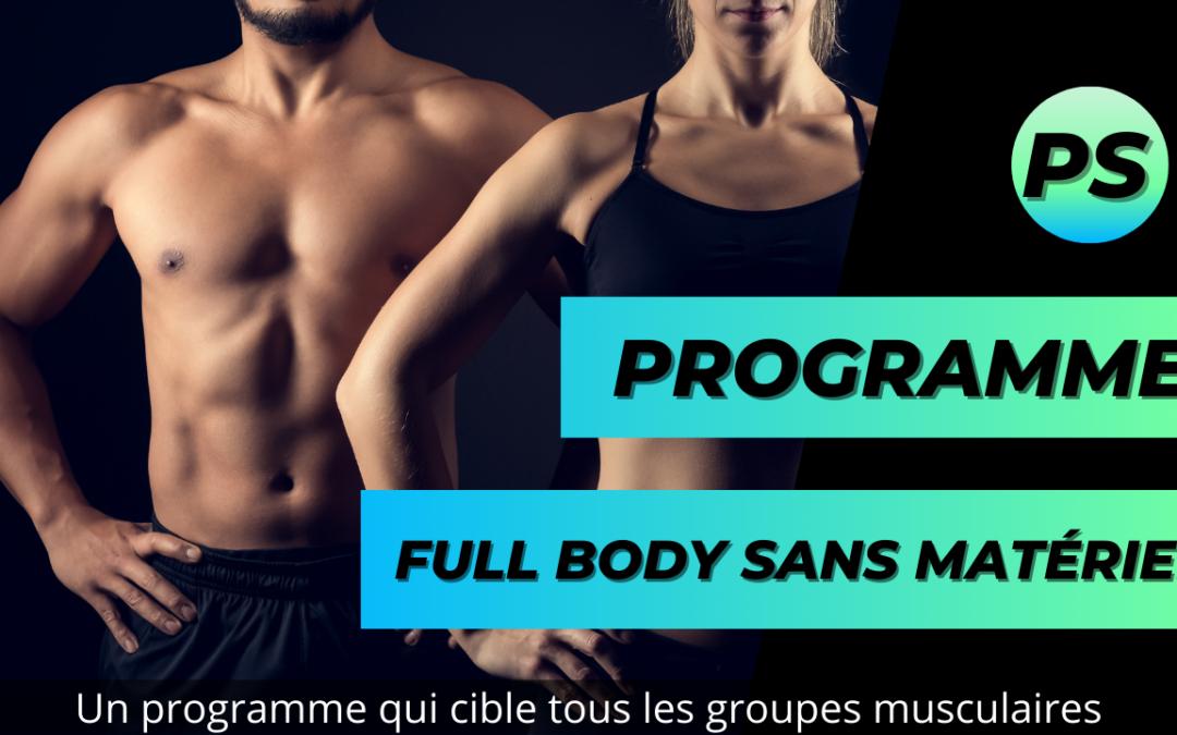 Programme Full body sans matériel en 10 minutes