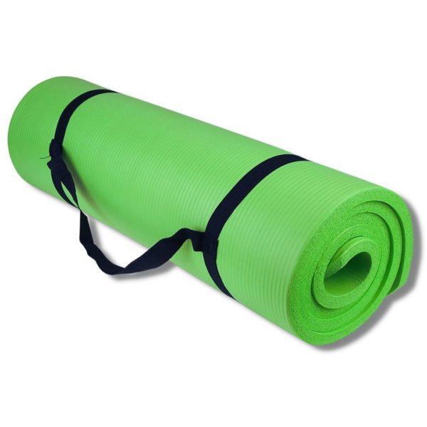 Tapis de sport confort enroulé prêt pour le transport PURSHAPE Fitness, Musculation et Yoga