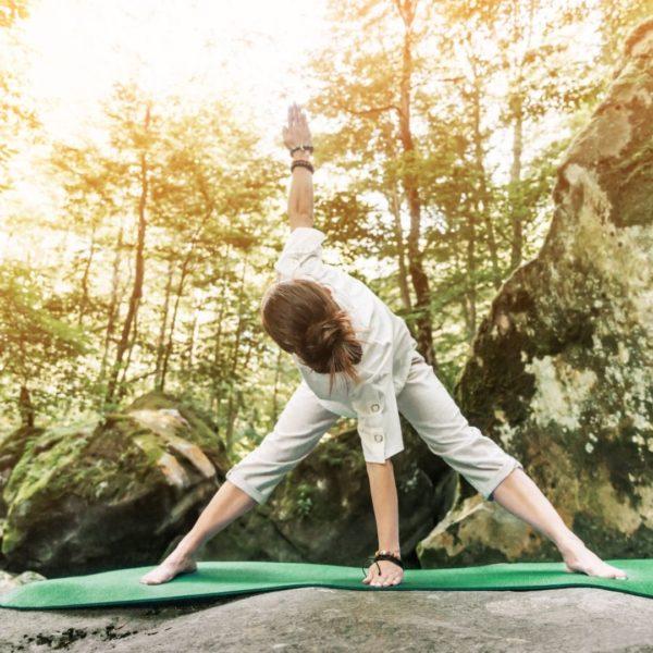 Utilisation du tapis de Yoga Purshape en exterieur