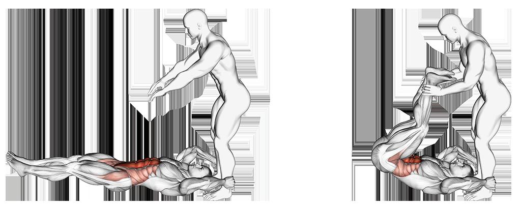 Image élévation assistée des jambes Purshape