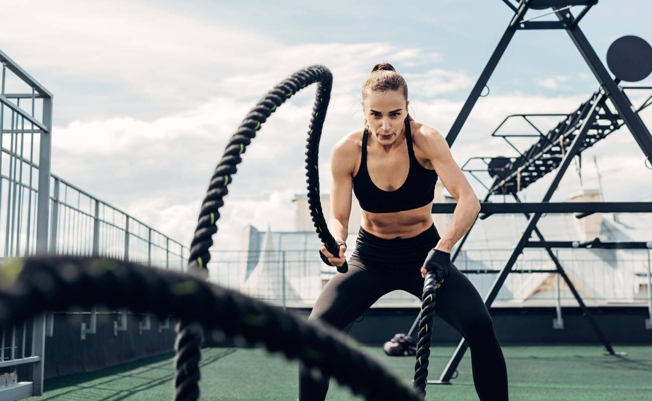 Exercice musculation cordes